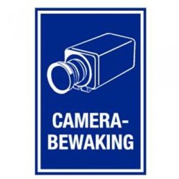 PVC muurbord met de tekst  'Camera Bewaking'