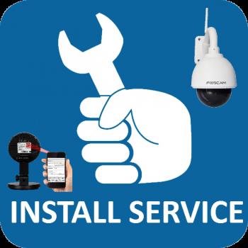 Installatieservice op afstand voor IP camera